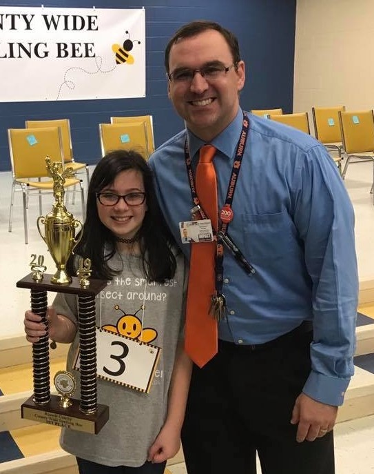 County Spelling Bee Winner