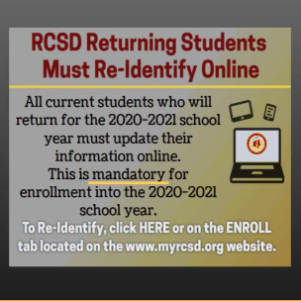 Re-identify as an RCSD student here!