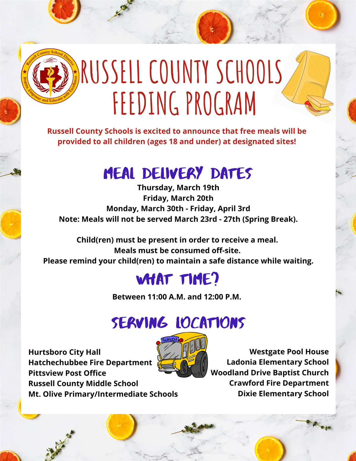 Feeding Program Information