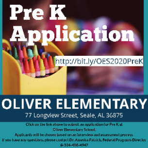 Oliver Pre K Application