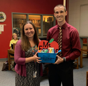 August Teacher of the Month Ms. Frazer!